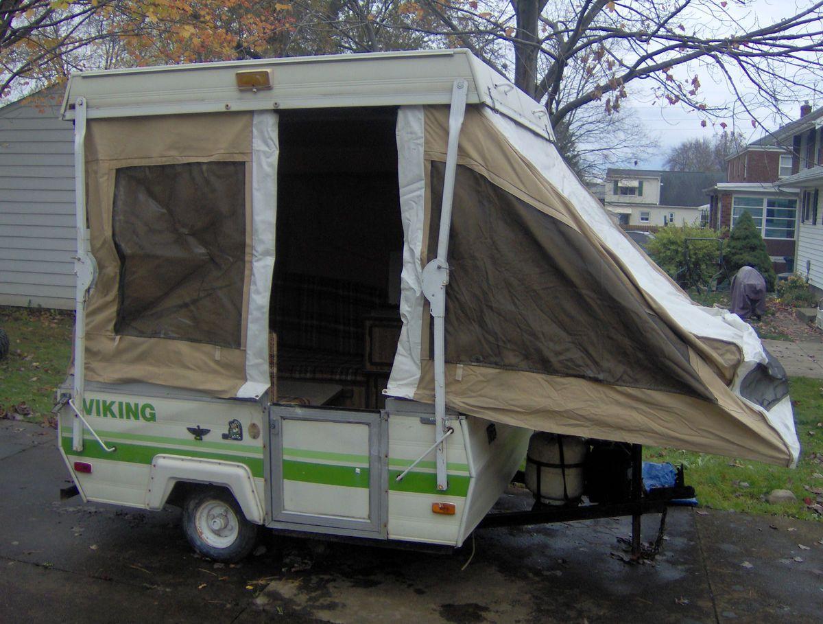 1983 viking mini gasser pop up camper camper dreams. Black Bedroom Furniture Sets. Home Design Ideas
