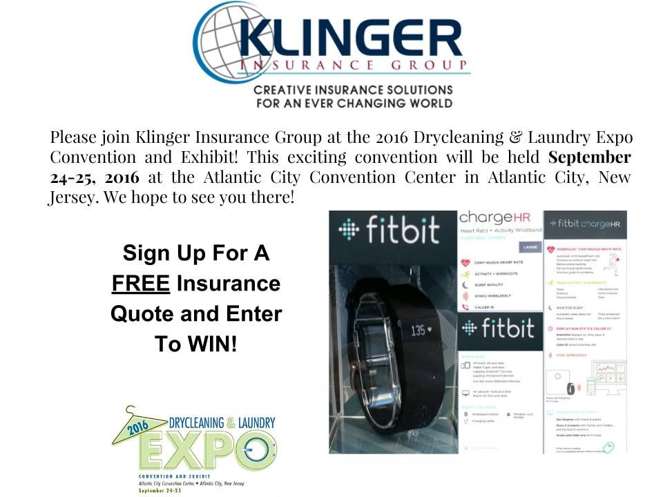 Klinger Insurance Group will be at the 2016 Drycleaning