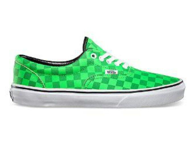 7b71cf0a8ac855 Green checkered Vans