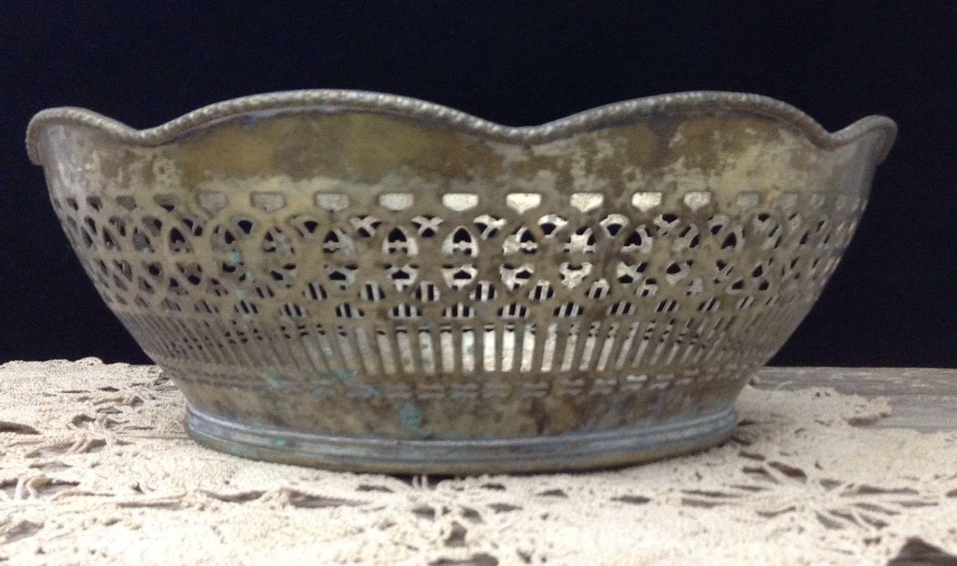 Brass bowl brass fruit bowl fruit basket farmhouse bowl