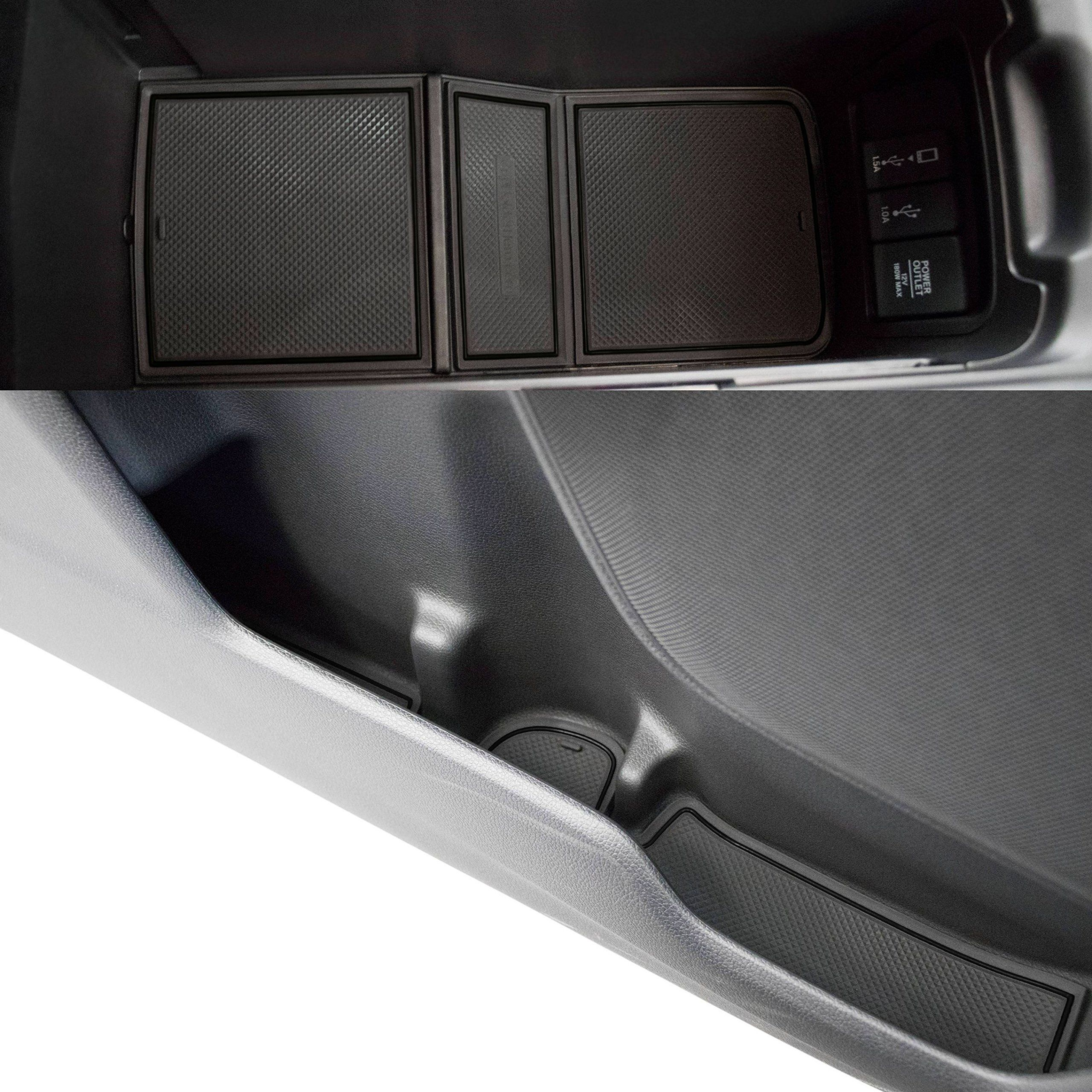 Custom Fit Cup Holder And Door Liner Accessories 2017 2018 Honda Crv 19pc Set Solid Black Find Out More About The Great In 2020 Honda Cr Custom Consoles Cup Holder
