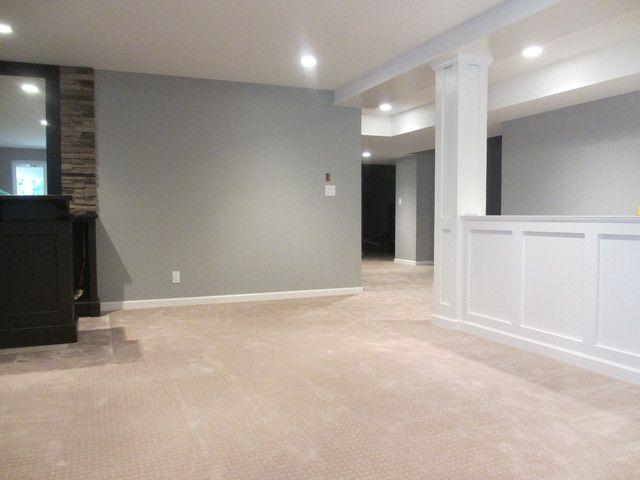 Room Divider Basement I Like This Color Scheme Sans The Carpet Go Darker Or Go Home Carpet P Basement Colors Basement Paint Colors Basement Painting