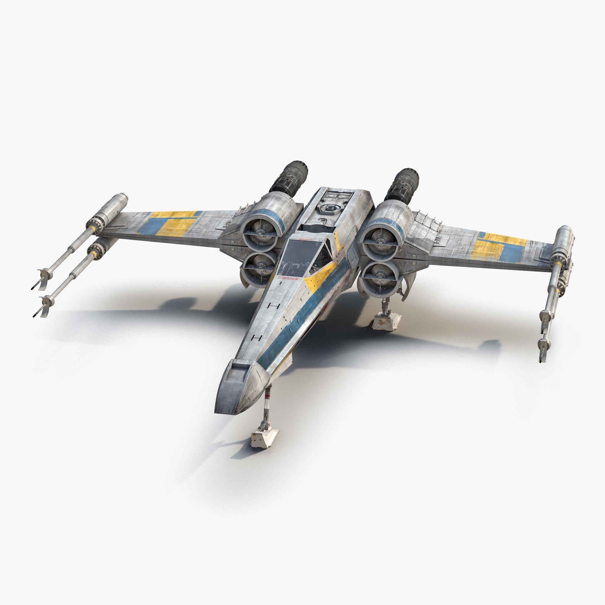 Star Wars X Wing Starfighter Blue 2 3d Model Ad Wing Wars Star Model Star Wars Models Star Wars Helmet Star Wars Ships