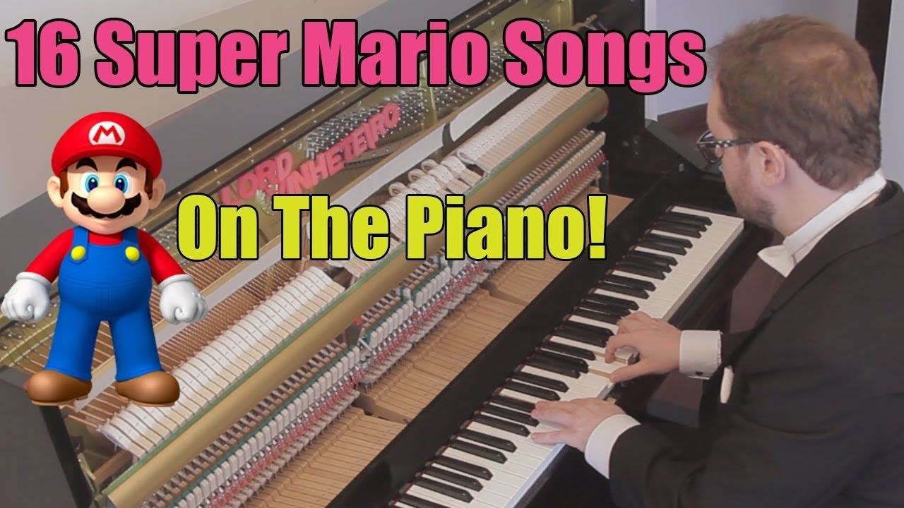 16 Freaking Amazing Super Mario Songs on Piano | Music | Mario songs