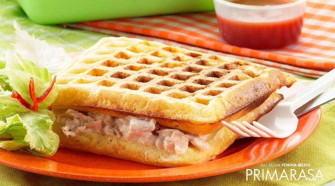 Wafel Isi Tuna Variasikan Sandwich Dengan Menggunakan Wafel Seperti Pada Resep Ini Diisi Dengan Campuran Tuna Dan Mayones Rasanya Su Tuna Waffles Kids Menu