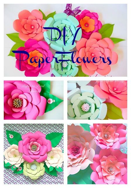 How To Make Large Paper Flowers Easy Diy Giant Paper Flower Diy