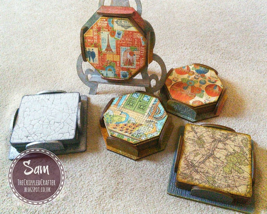 The Crippled Crafter: Lots and lots of Coasters!