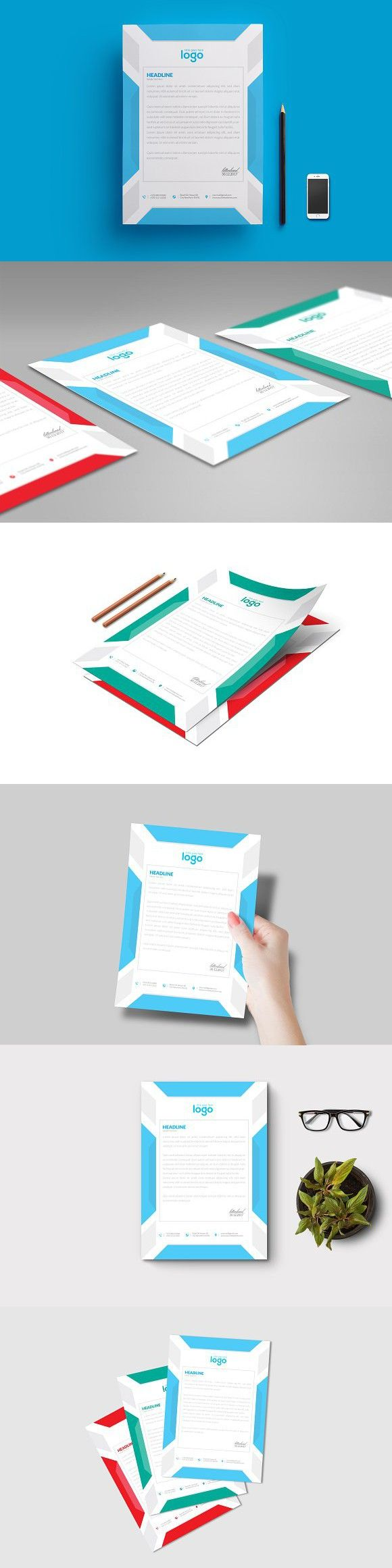Letter Head Presentation folder design, Letterhead