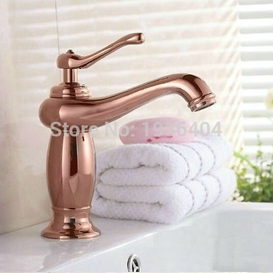 Luxury Copper Brass Taps Antique Rose Mixer Taps Hot And Cold Deck Mounte Golden Water Faucet Rs311 Water Faucet Brass Tap Mixer Taps