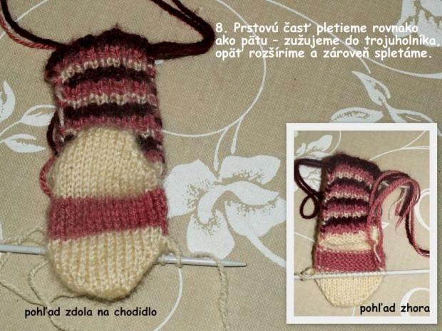 ponožky pletené na dvoch ihliciach, všetko ostatné, fotopostup - Artmama.sk