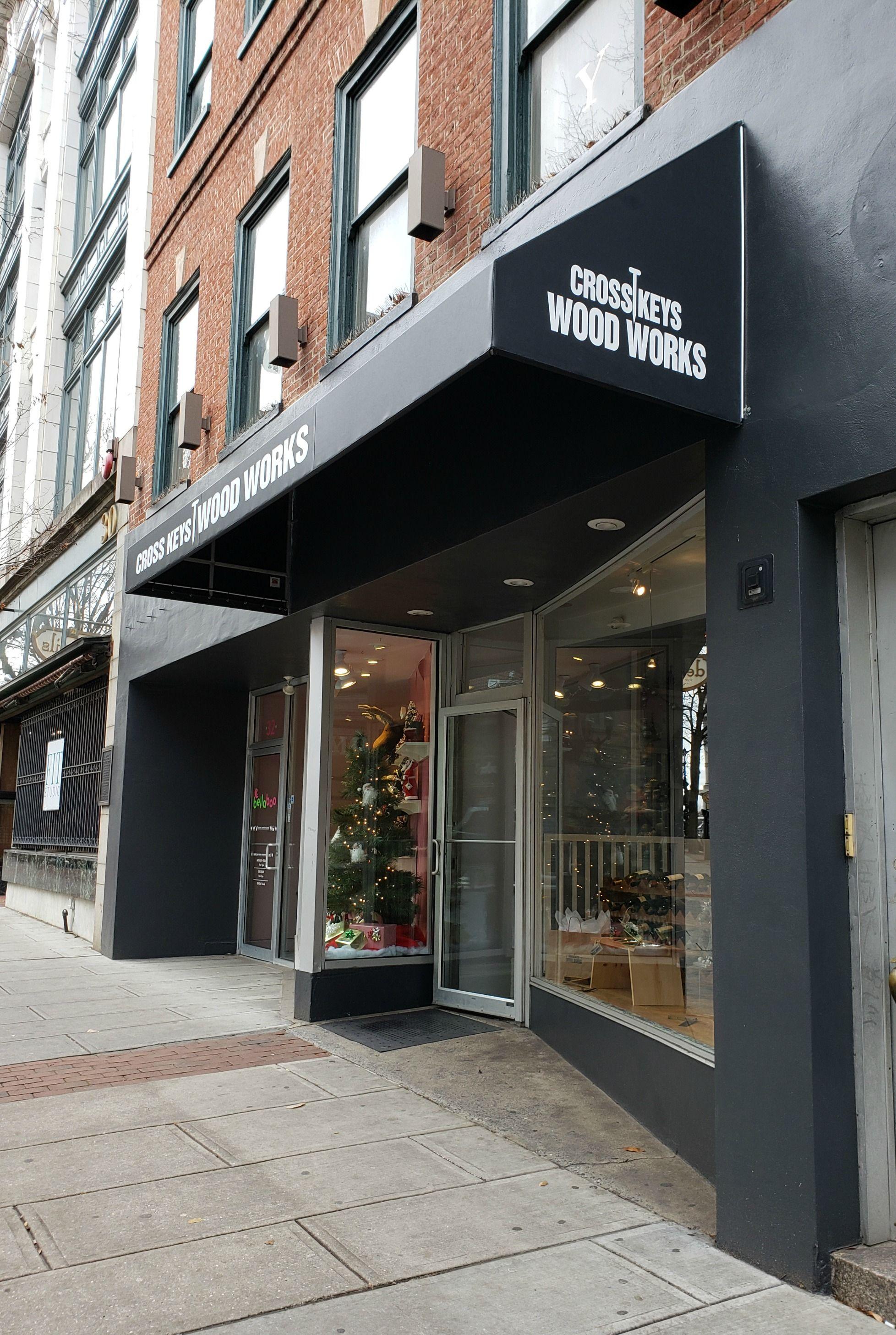 Cross Keys Wood Works Traditional Storefront Awning Kreider S Canvas Service Inc Storefront Design Exterior Design Store Fronts