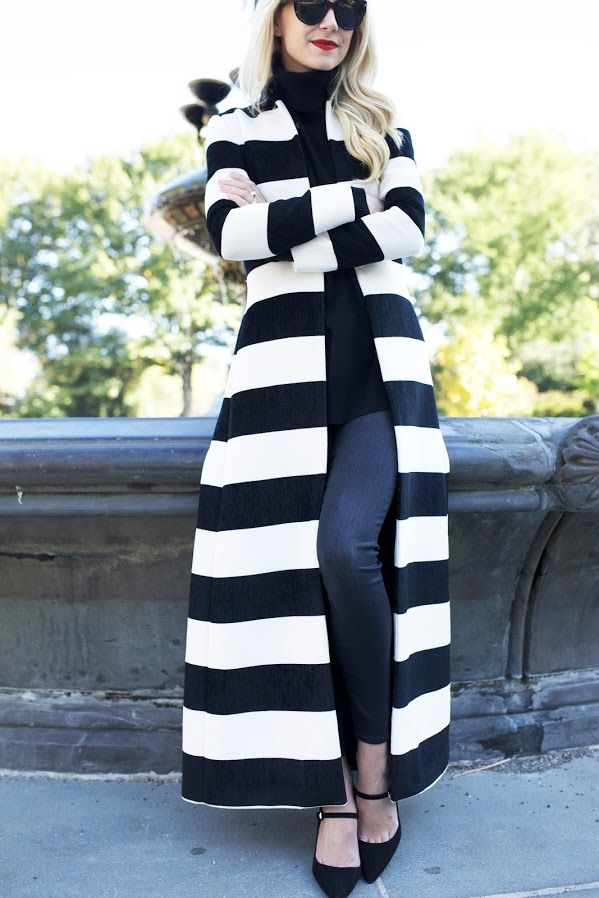Atlantic Pacific in our statement striped jacket!