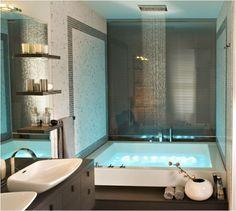 arredare un bagno piccolo quadrato - bagno piccolo con vasca a incasso - Bagni Moderni Con Vasca