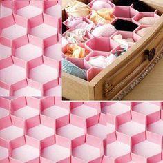 Diy honeycomb underwear drawer organizer love this garage diy honeycomb underwear drawer organizer love this solutioingenieria Gallery