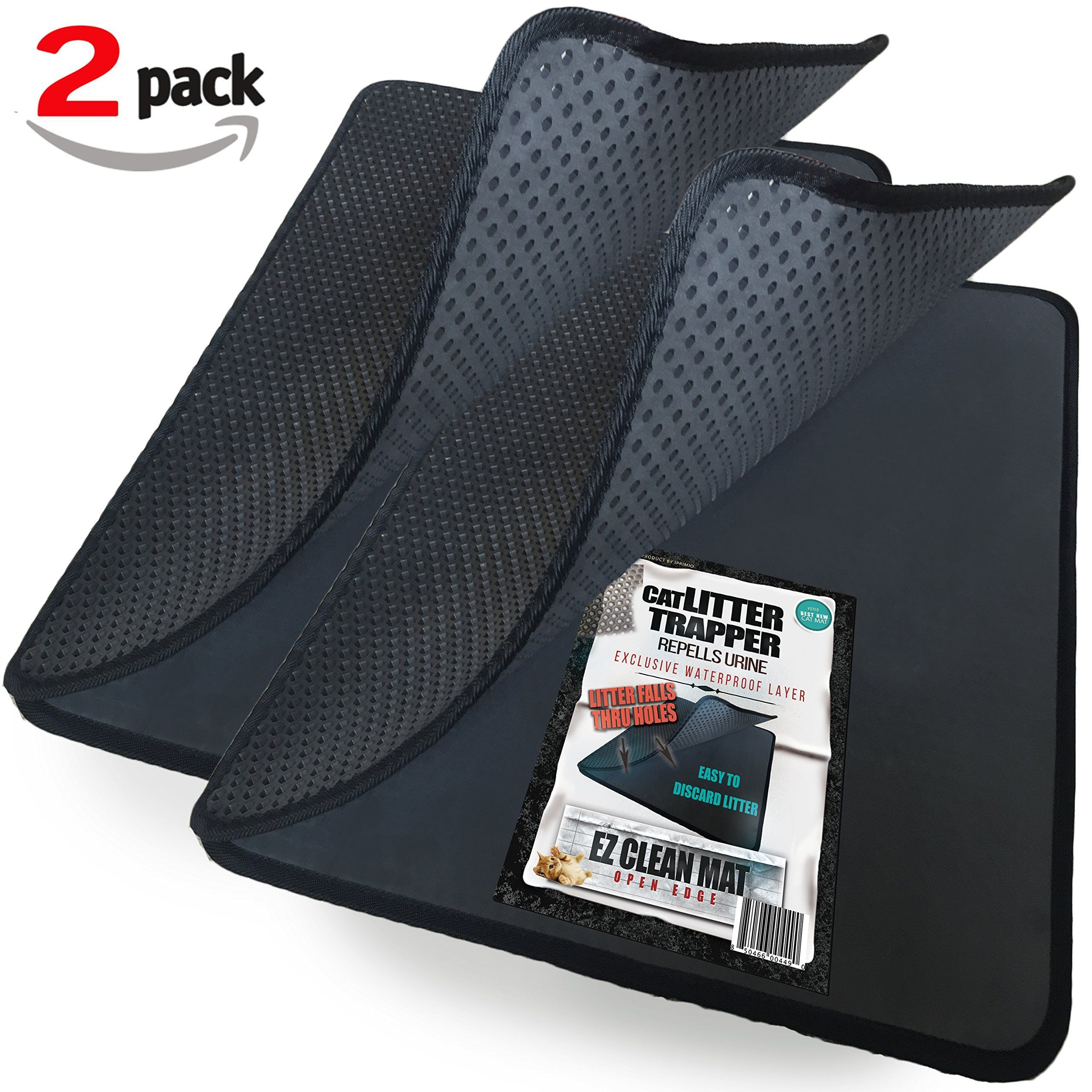 cat trapper puppy iprimio pin mat and patent pending black option water by clean pad proof ez pack litter layer box mats large