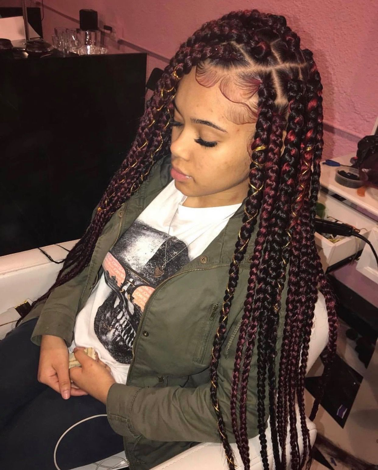 Pin by ariel on braids pinterest protective styles black girls