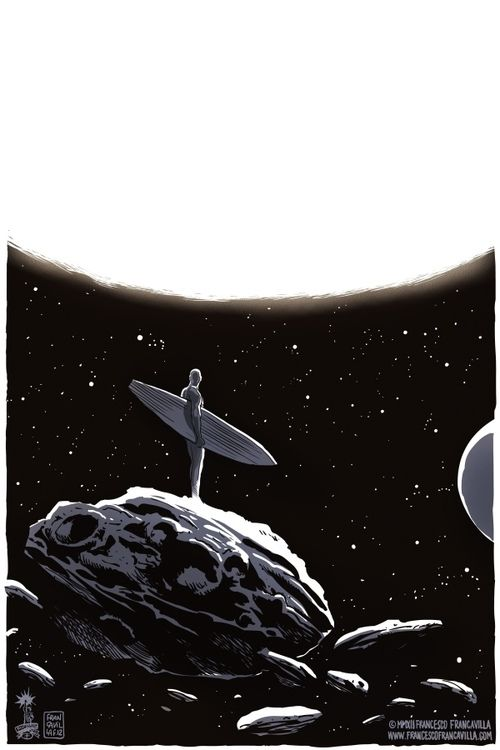 francavillarts:  SILVER SURFER by Francesco Francavilla One of my favorite things I've drawn :) Cheers,FF