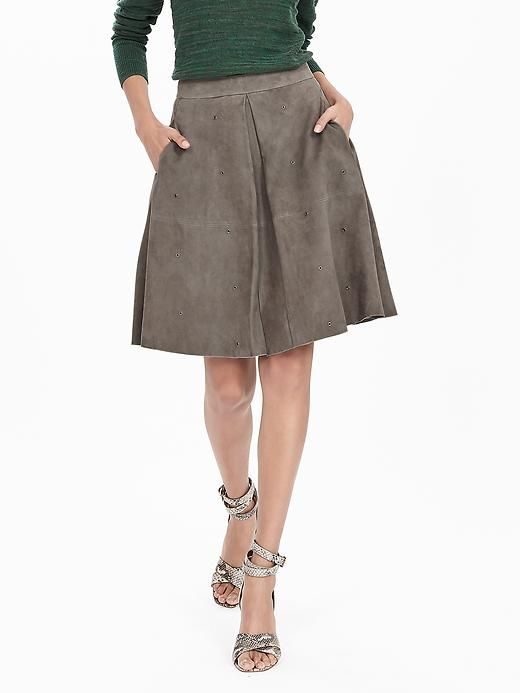 796313a9ae Heritage Suede Grommet Skirt | Banana Republic | shopping list ...