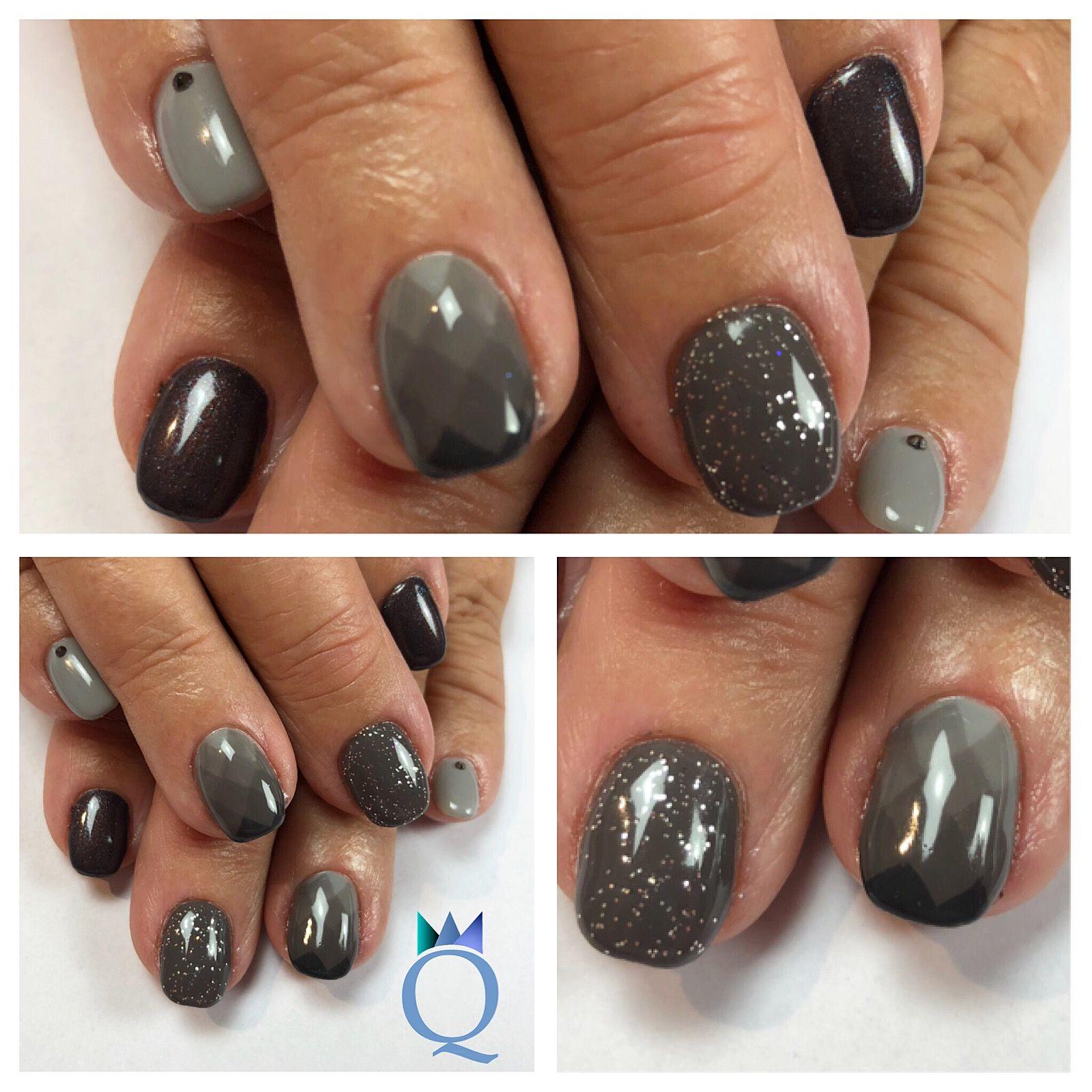 shortnails #gelnails #nails #grey #kurzenägel #gelnägel #nägel #grau ...