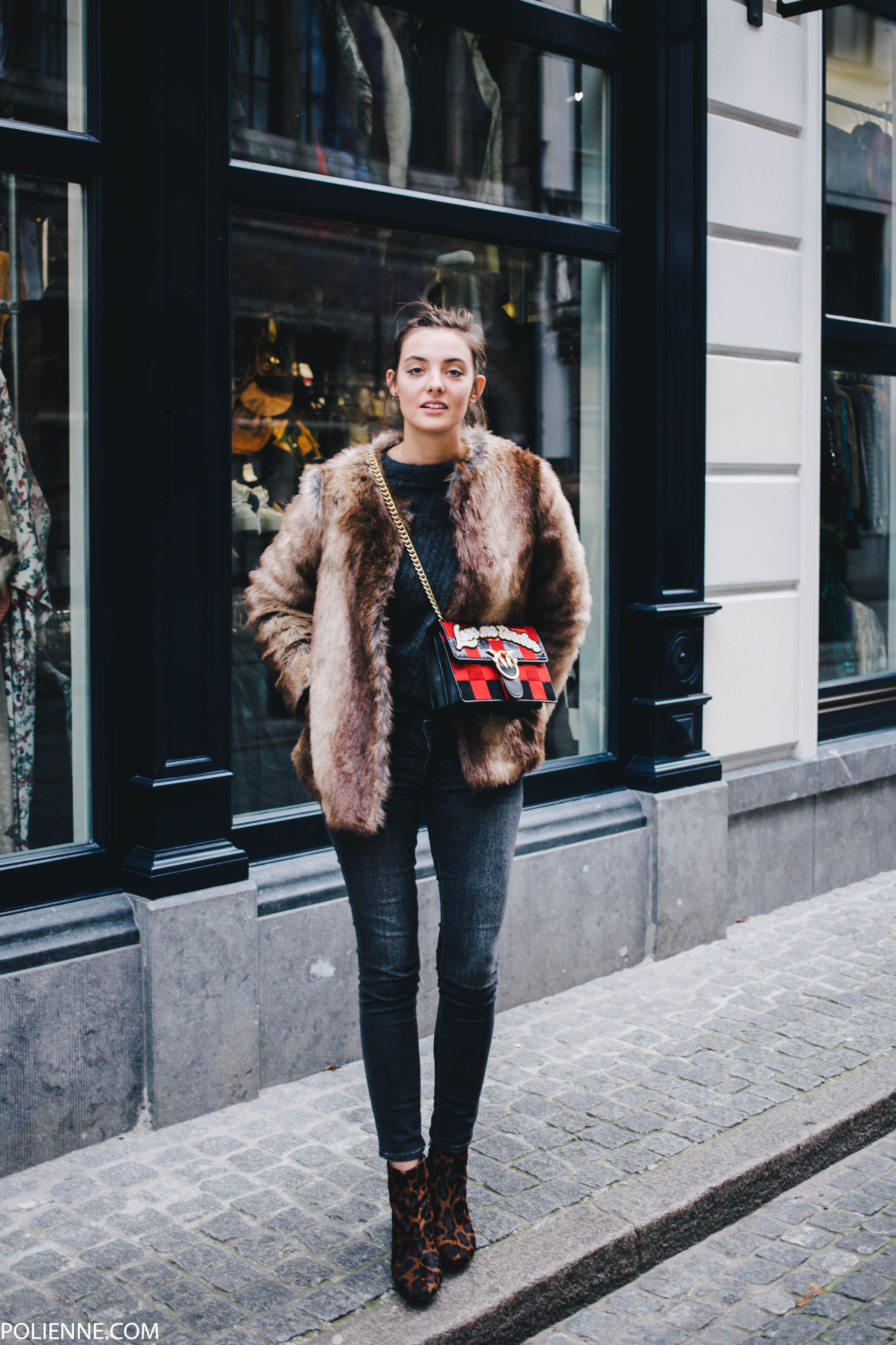 Tags french fashion la redoute secrets to french style style - Polienne By Paulien Riemis Wearing A La Redoute Faux Fur Pinko Love Bag