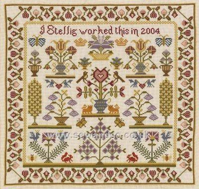 CROSS STITCH CHART TREE OF LIFE  SAMPLER CHART HISTORICAL SAMPLER CO.