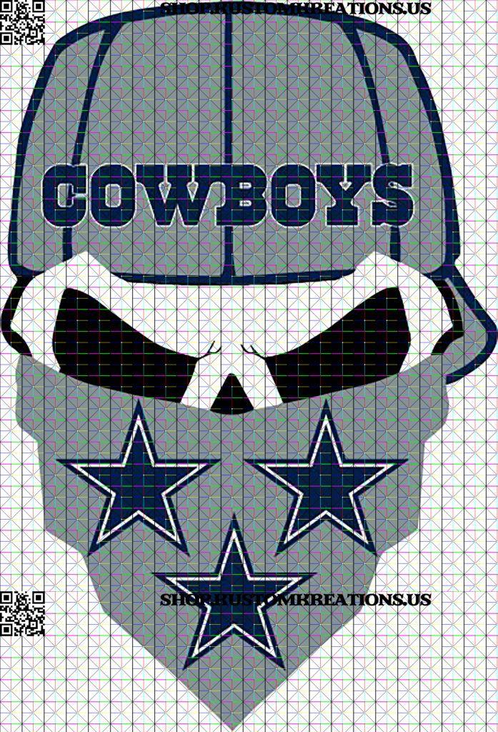 Cowboys Skull with hat and bandanna SVG Kustom