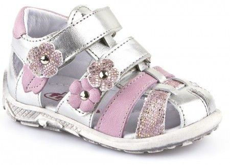 2d0f9ed6a918 Froddo G2150057-2 Silver Pink Sandals
