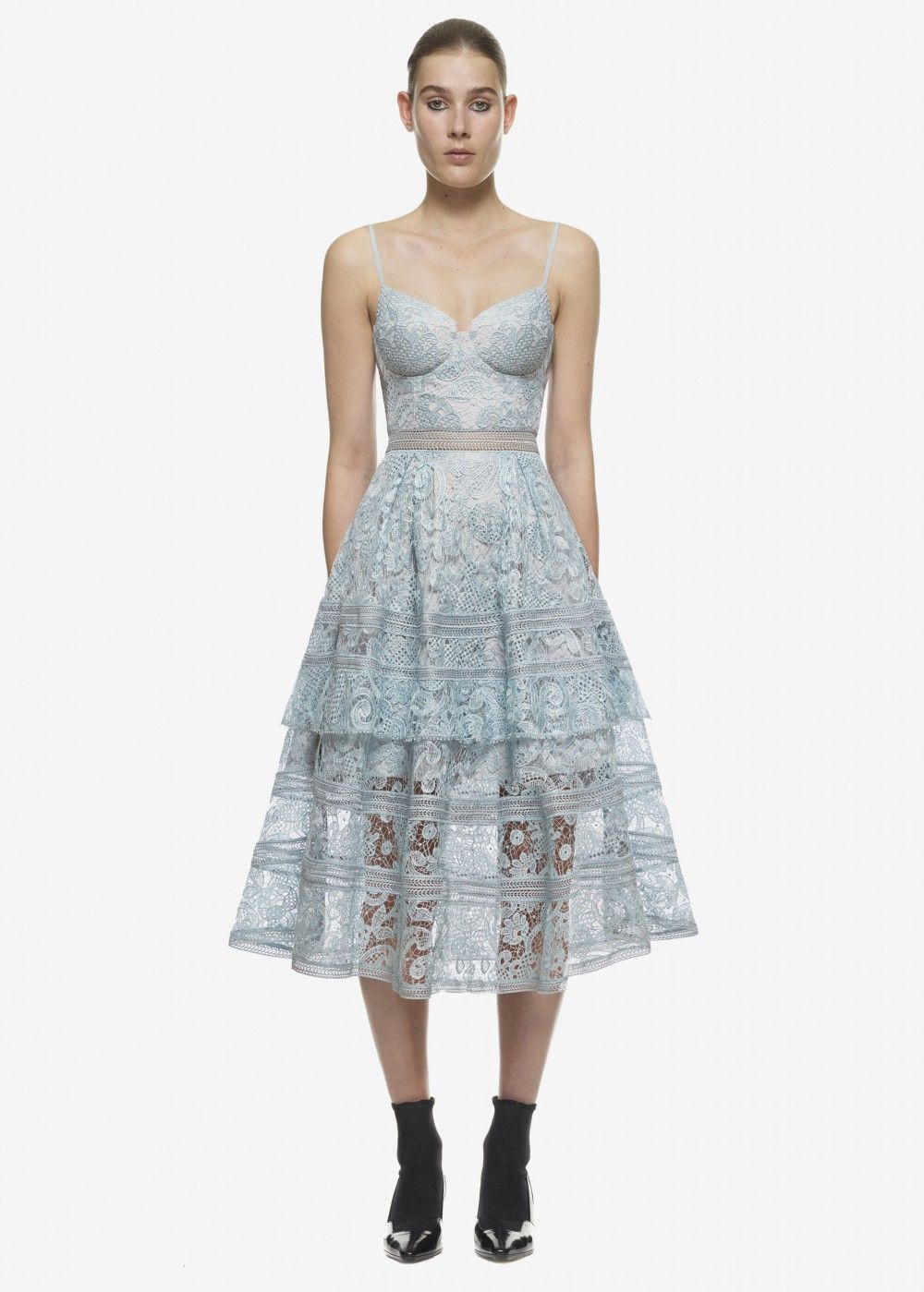self portrait paisley midi dress in icy blue #women #happynewyear ...