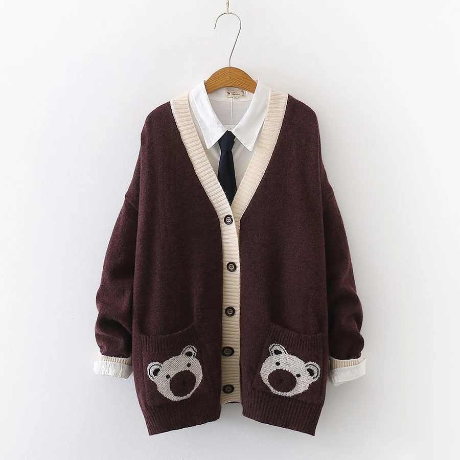 Kawaii Brown Bear Cardigan Jacket Are you wardrobe