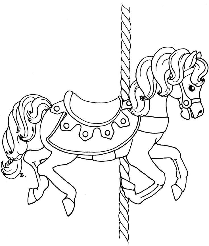 free coloring pages of carousel horses | carousel | Christmas Coloring Pages | Pinterest ...