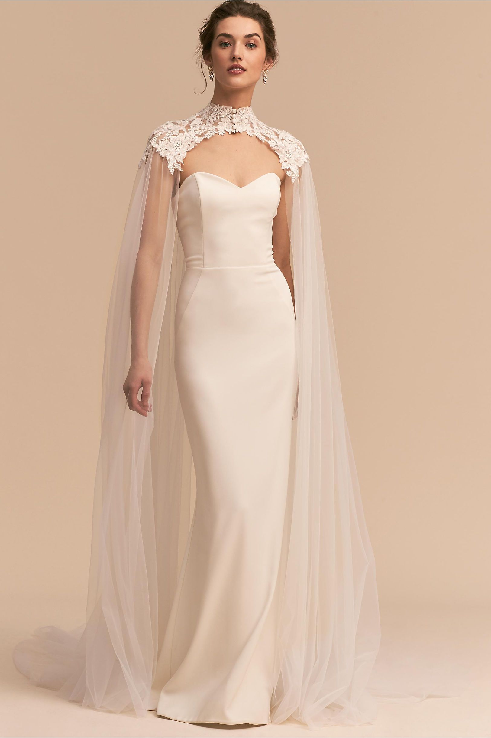 173a82c46f BHLDN's Eddy K Vincent Cape in Ivory | Products | Wedding cape ...