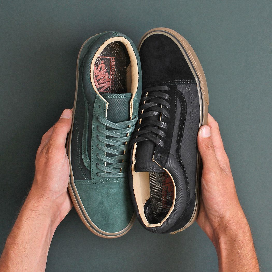 The Vans Old Skool - A DX Re-Issue with premium suede, leather and canvas  uppers with the classic gum brown sole. 6c3c21587a4