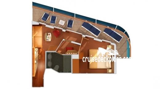 Vista Suite Layout - Carnival Legend Deck Plans Pictures Diagrams