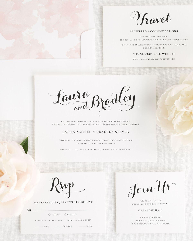 Hobby Lobby Wedding Ideas: Romantic Script Wedding Invitations