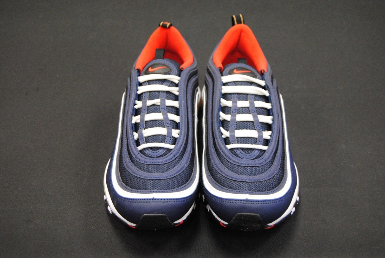 a6fcb920f76a91  921826 403  NEW MEN S NIKE AIR MAX 97 MIDNIGHT NAVY HABANERO RED LE1082