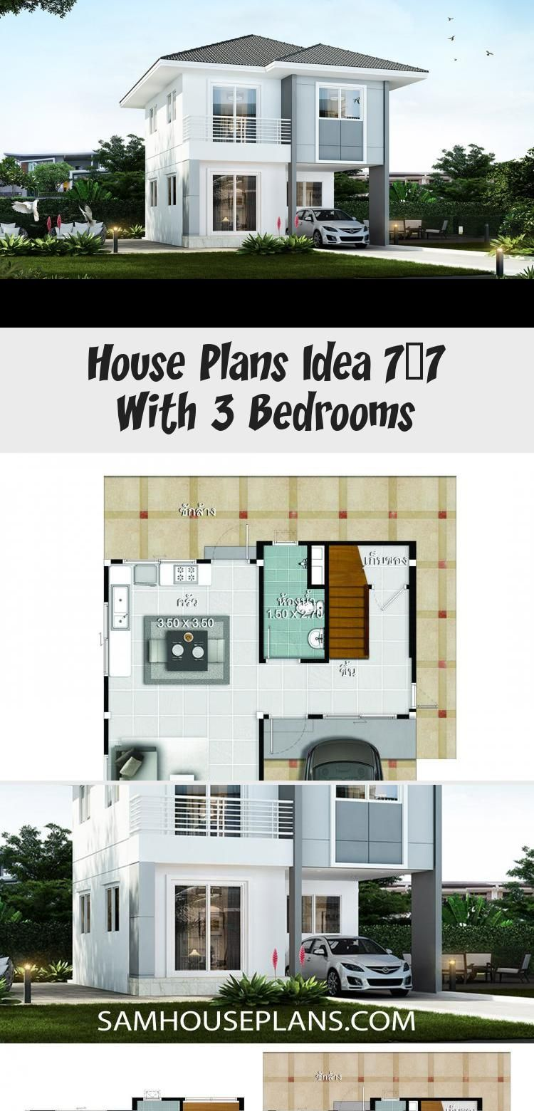House Plans Idea 7x7 With 3 Bedrooms Sam House Plans Smallhouseplanswithwraparoundporch Smallhouseplans1600sqft Smallh In 2020 House Plans Small House Plans House