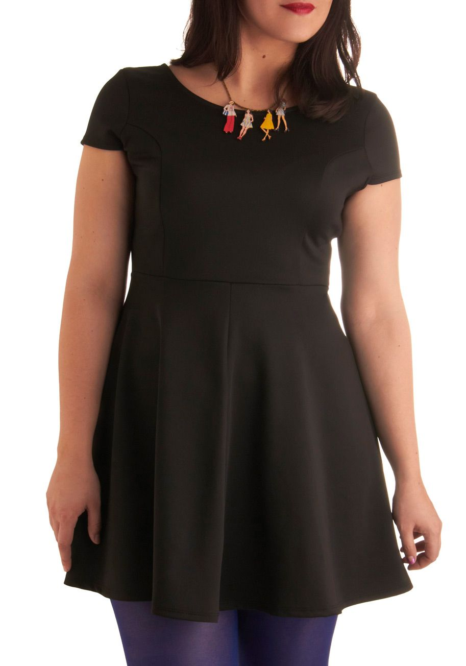 Jazz Standards Dress in Plus Size     $42.99    Take center stage at the local jazz club sheathed in this classic LBD! Its fitted form and chic cap sleeves look stunning under the spotlights. Simple and sophisticated, this dress is the perfect look for a cool crooner like you. Turn up the volume on your outfit by pairing this piece with statement earrings, glittering pumps, and a simple bracelet. Your heart will be singing over this snazzy shift!