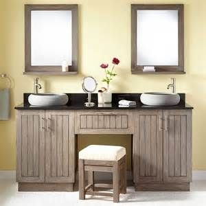 Bathroom Double Vanity With Makeup Area Bing Images Bathroom