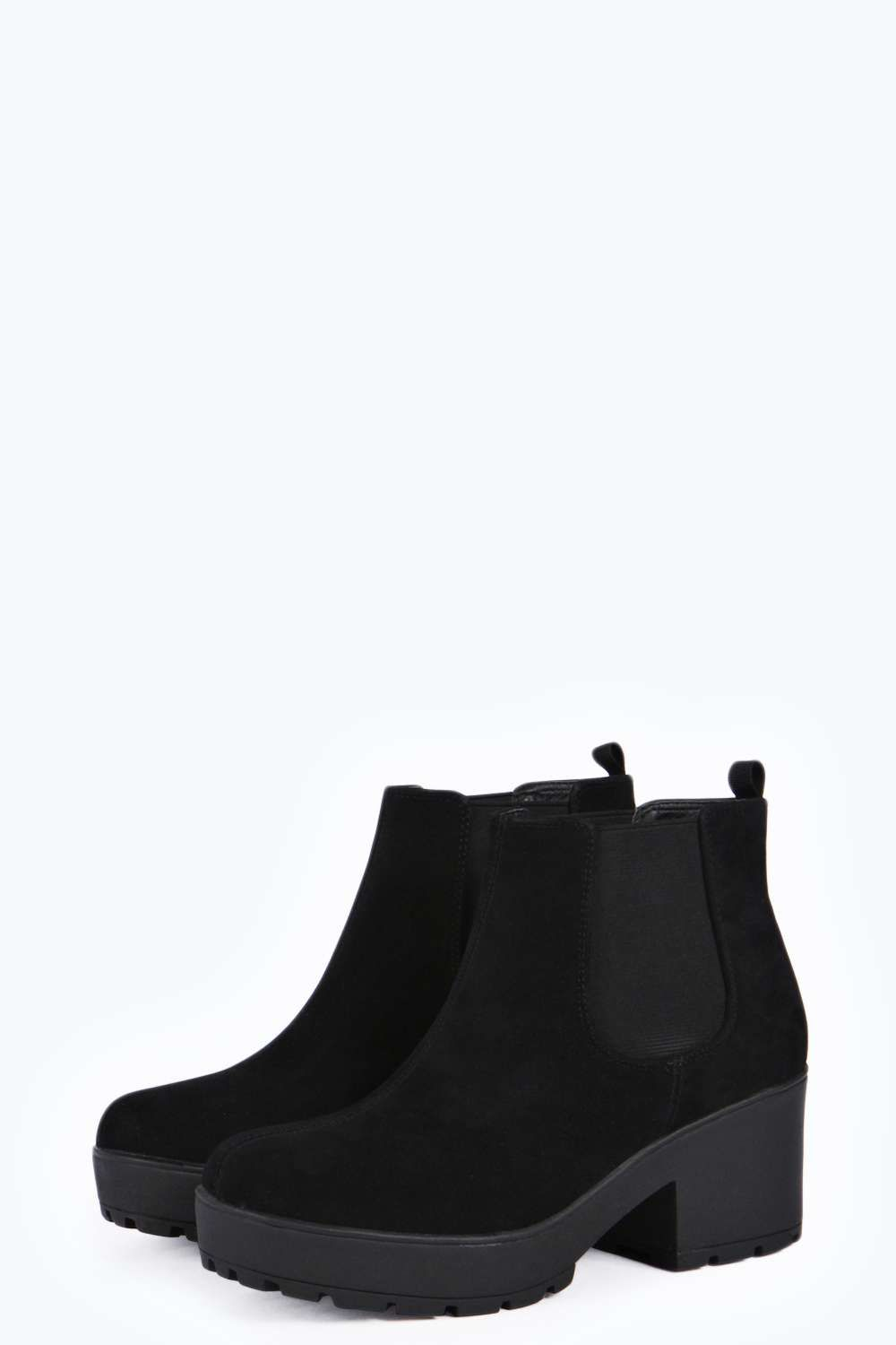 Erin Low Cleated Suedette Boot £30
