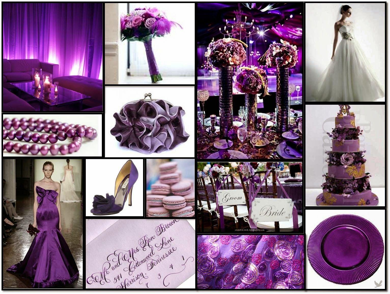 colores para boda morado | DECORACION | Pinterest