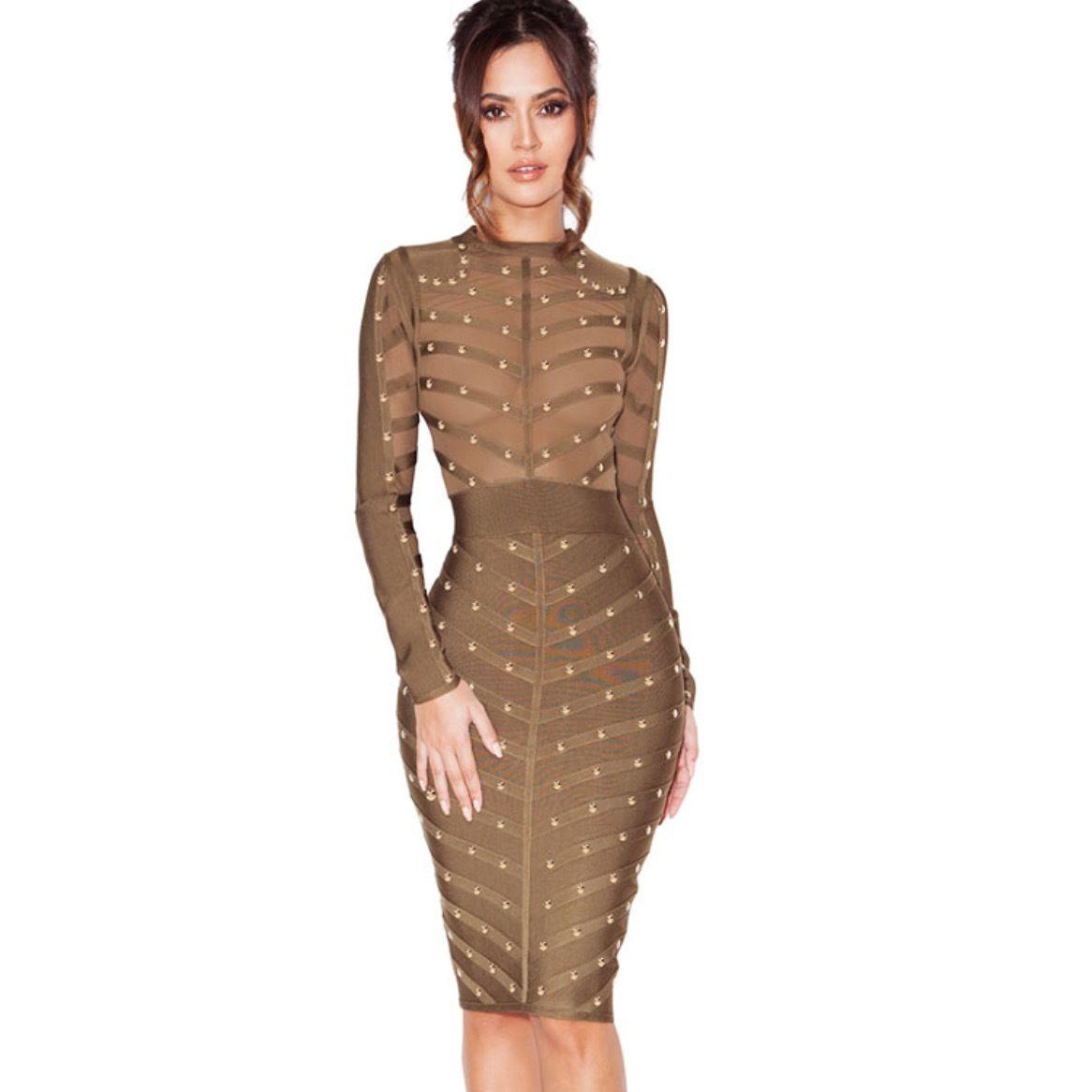 Storm Gold Studded Dress - Abruzzo Clothing