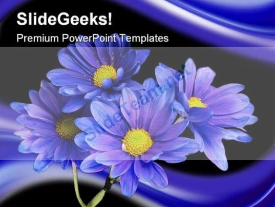 Purple Flowers Nature Powerpoint Template 0610 Agriculture