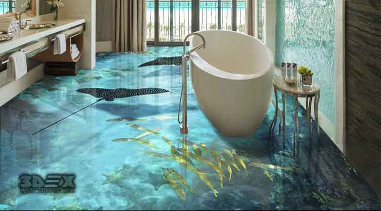 3D tile flooring images 3d bathroom tiles designs 2018 ...