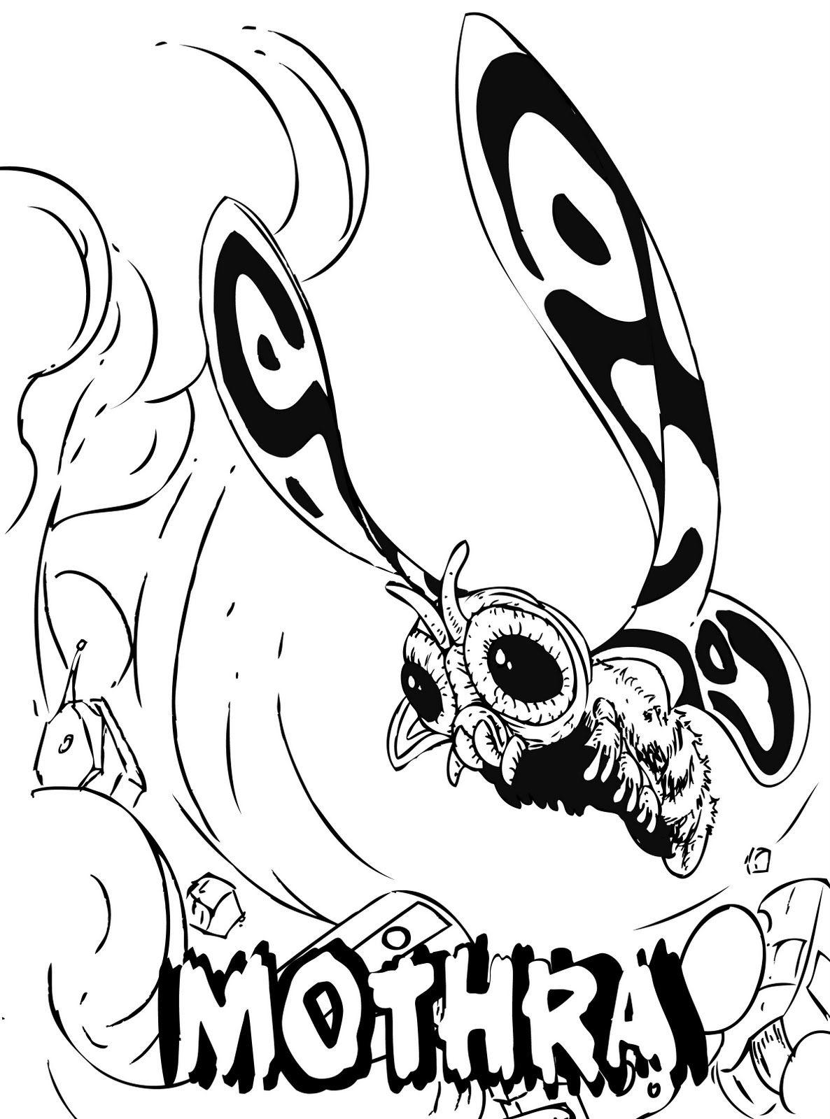 pixeldog lives on m for mothra lineart monsters u0026 demons