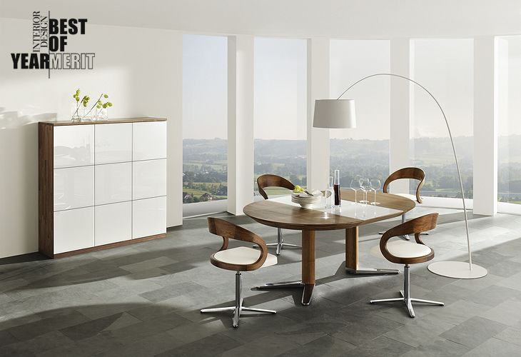 Contemporary Chairs For Dining Room Prepossessing Team7 Dining Setlove The Lamp The Table The Chairs The Space Design Ideas