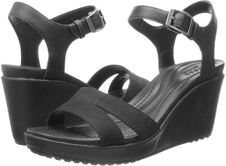 71c4f29ef45 Crocs Leigh II Ankle Strap Wedge
