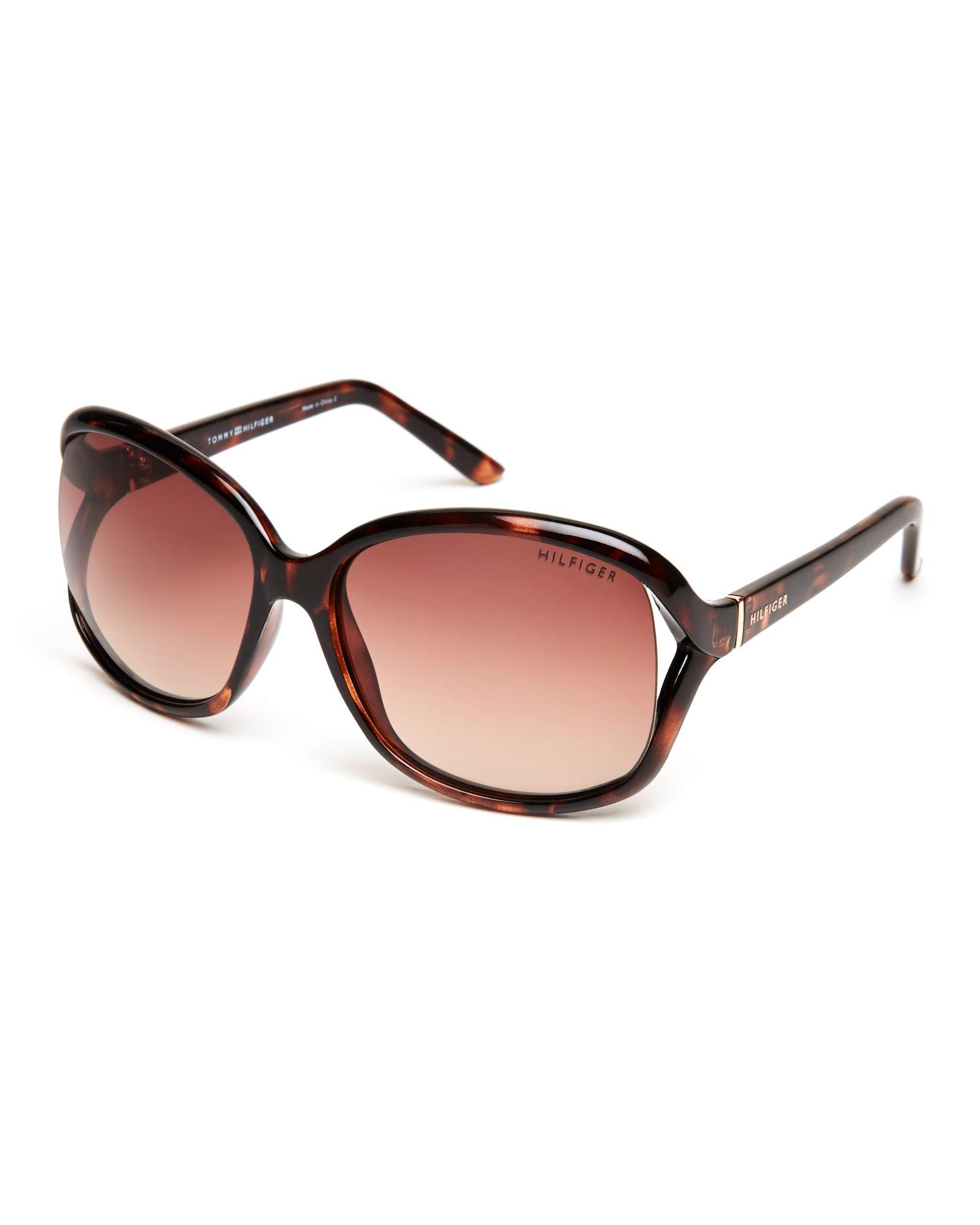 Tommy Hilfiger Tortoiseshell-Look Jade-WP XL Square Sunglasses