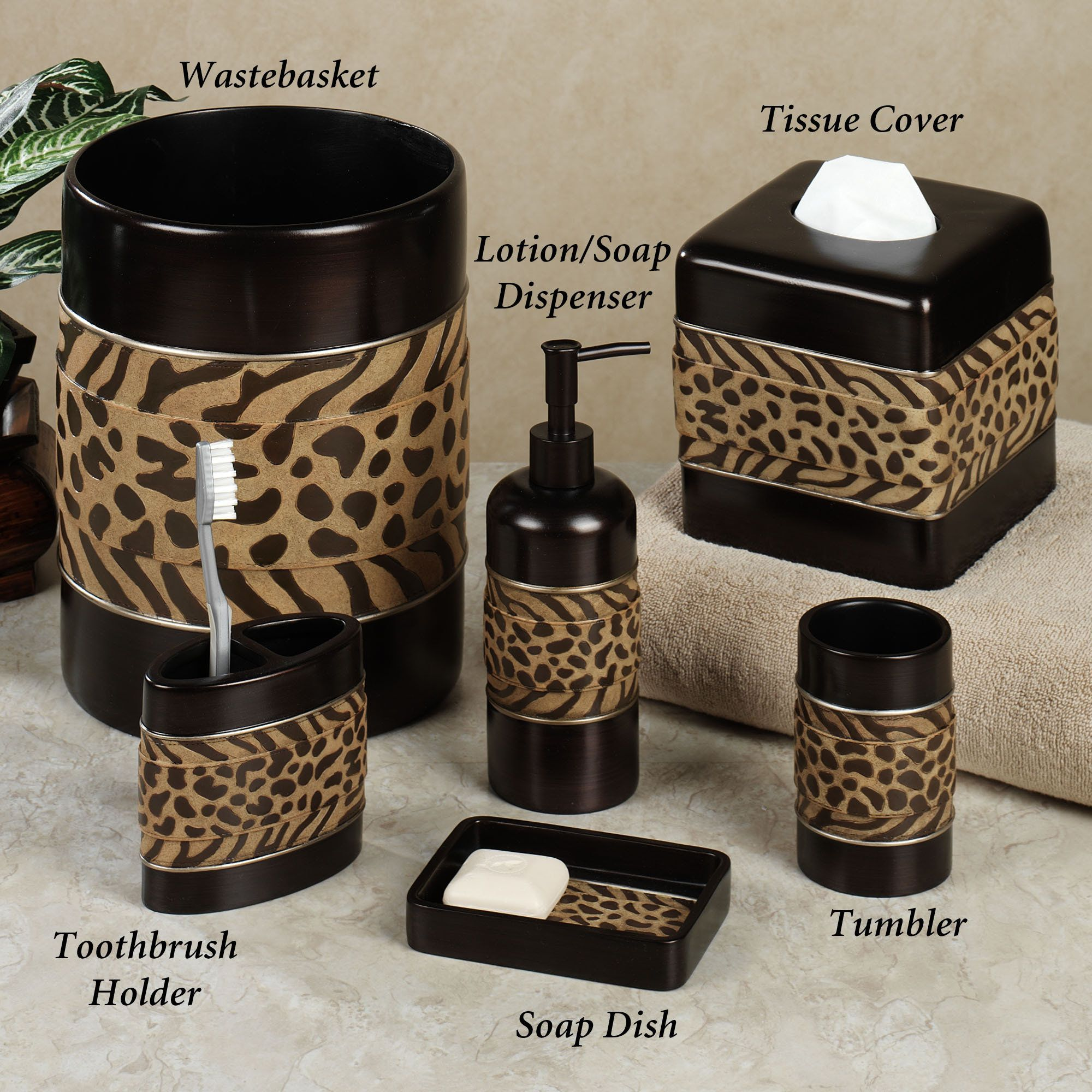 Incroyable The Cheshire Animal Print Bath Accessories Feature The Primal Beauty That  These Natural Designs Have Always Evoked. Cheetah And Zebra Pattern Bands  Add A.