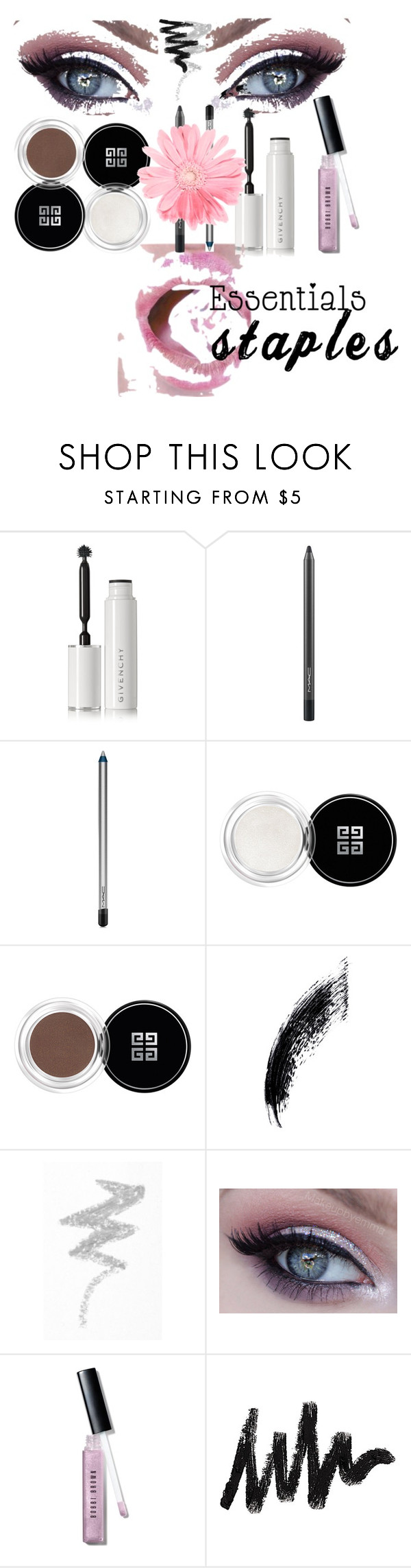 """me"" by svnaumova-15 ❤ liked on Polyvore featuring beauty, Givenchy, MAC Cosmetics, NYX, Bobbi Brown Cosmetics, contestentry, PVStyleInsiderContest and makeupbagstaples"