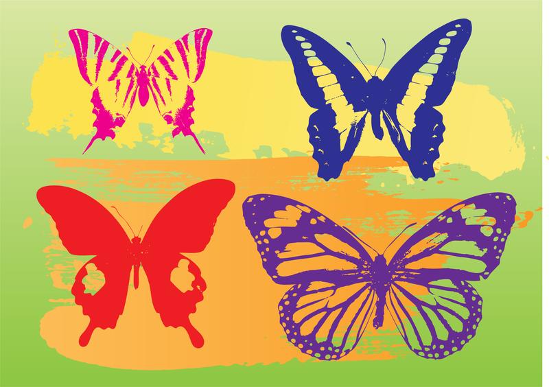 Butterflies Vector Graphics #AD , #spon, #sponsored, #Graphics, #Vector, #Butterflies